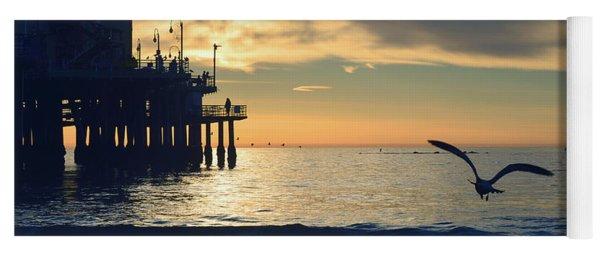 Seagull Pier Sunrise Seascape C2 Yoga Mat