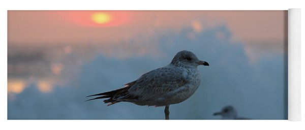 Seagull Seascape Sunrise Yoga Mat