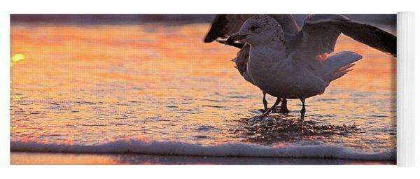 Seagull Stretch At Sunrise Yoga Mat