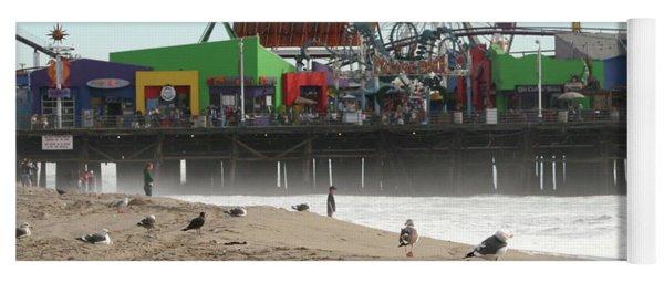 Seagulls And Ferris Wheel Yoga Mat