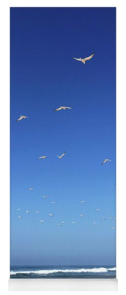 Seagulls And Pier Yoga Mat