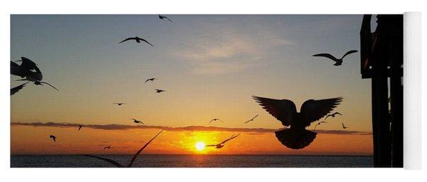 Seagulls At Sunrise Yoga Mat