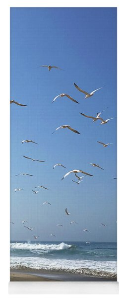 Seagulls In The Morning Yoga Mat