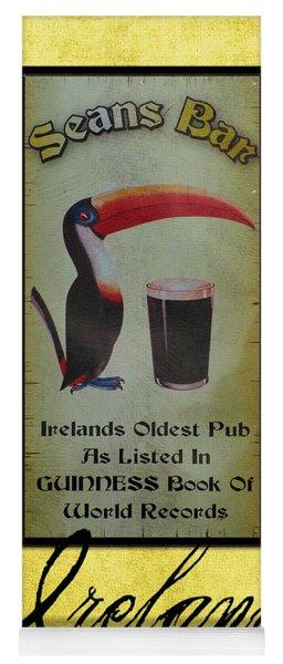Seans Bar Guinness Pub Sign Athlone Ireland Yoga Mat