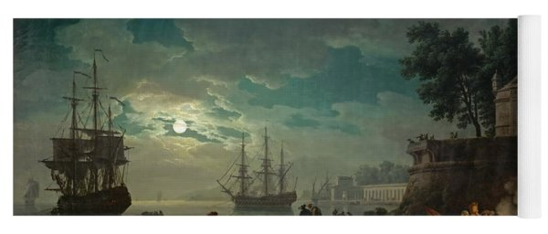 Seaport By Moonlight Yoga Mat