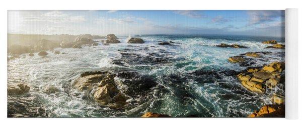 Seas Of The Wild West Coast Of Tasmania Yoga Mat