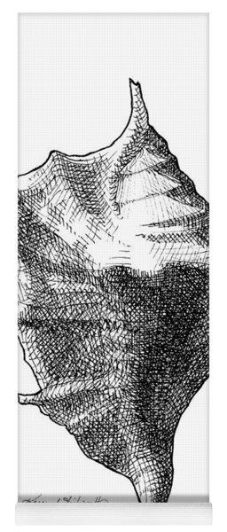 Seashell 1 - Nautical Beach Drawing Yoga Mat