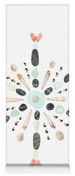 Seashell Snowflake 4 Yoga Mat