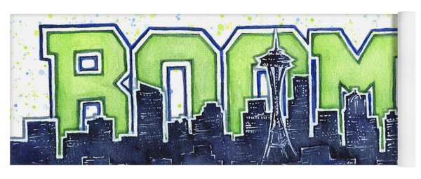 Seattle 12th Man Legion Of Boom Painting Yoga Mat