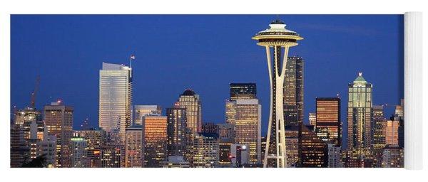 Seattle At Dusk Yoga Mat