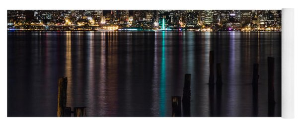 Seattle At Night Yoga Mat