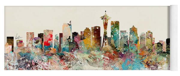 Seattle Skyline Yoga Mat