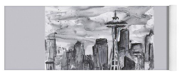 Seattle Skyline Space Needle Yoga Mat