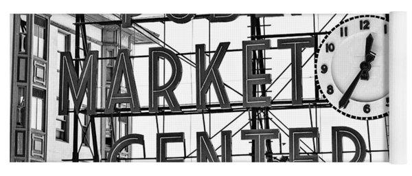 Seattle Vintage Pike Place Market Yoga Mat