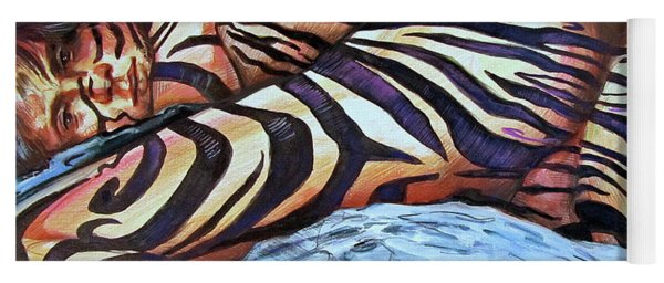 Seduction Of Stripes Yoga Mat
