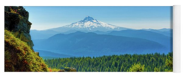 Mt Hood Seen From Beyond Yoga Mat