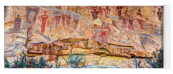 Sego Canyon Indian Petroglyphs And Pictographs Yoga Mat