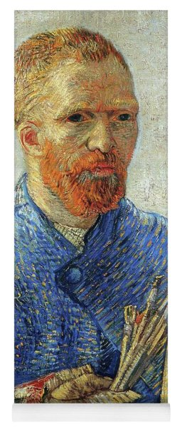 Yoga Mat featuring the painting Self Portrait As An Artist by Van Gogh