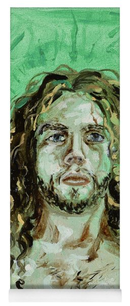 Self Portrait -with Emerald Green And Mummy Brown- Yoga Mat
