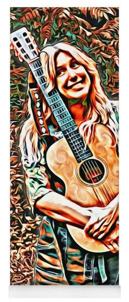 Self Portrait With Guitar Yoga Mat