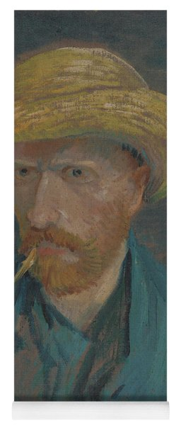 Self-portrait With Straw Hat And Pipe Yoga Mat