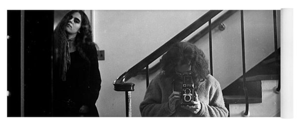 Self-portrait, With Woman, In Mirror, Full Frame, 1972 Yoga Mat