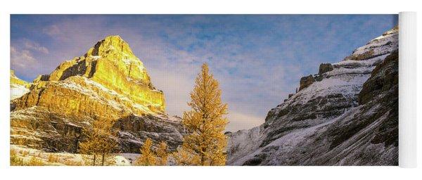 Sentinel Pass Golden Larches Canadian Rockies Yoga Mat