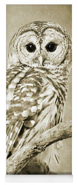 Sepia Owl Yoga Mat