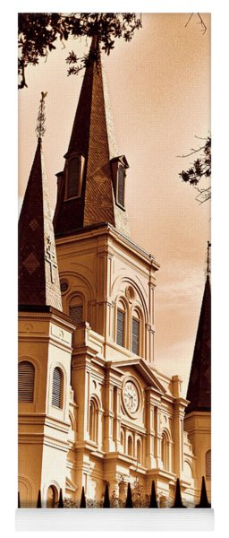 Sepia St. Louis Cathedral Yoga Mat
