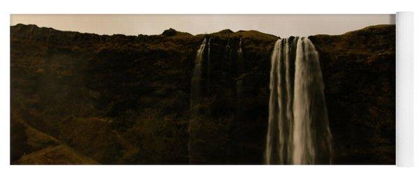 Sepia Waterfall Yoga Mat