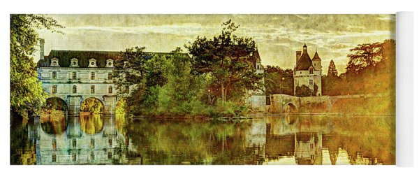 September Sunset In Chenonceau - Vintage Version Yoga Mat