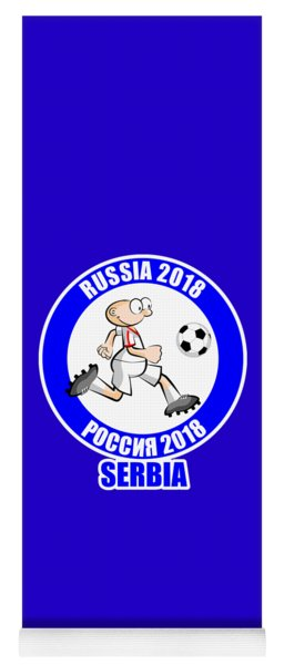 Serbia In The Soccer World Cup Russia 2018 Yoga Mat