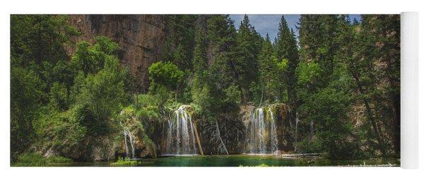 Serene Hanging Lake Waterfalls Yoga Mat