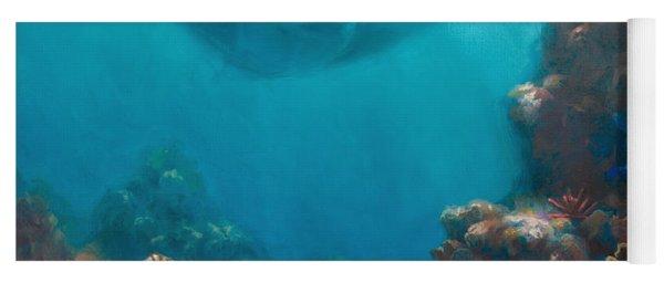 Serenity - Hawaiian Underwater Reef And Manta Ray Yoga Mat