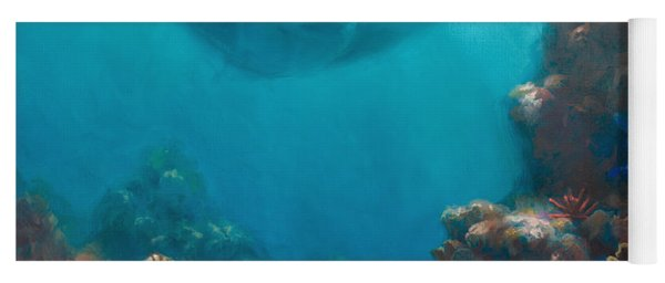 Serenity - Hawaiian Underwater Reef And Manta Ray Yoga Mat