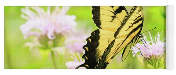 Series Of Yellow Swallowtail #4 Of 6 Yoga Mat