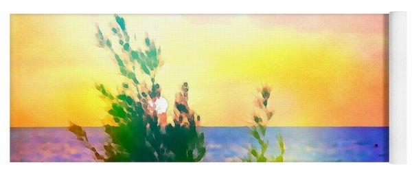 Pastel Colors On The Atlantic Ocean In Cancun Yoga Mat