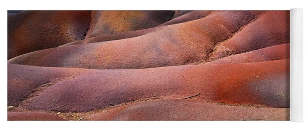Seven Colored Earth In Chamarel 8. Series Earth Bodyscapes. Mauritius Yoga Mat