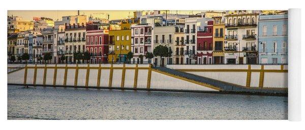 Seville - Sunset In Calle Betis Yoga Mat