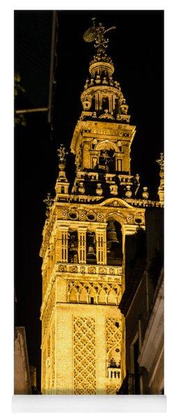 Seville - The Giralda At Night  Yoga Mat