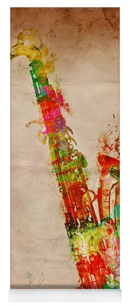 Yoga Mat featuring the digital art Sexy Saxaphone by Nikki Smith