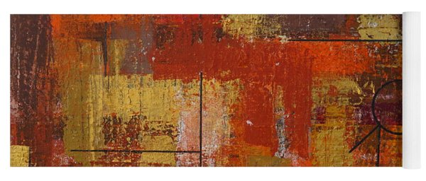 Yoga Mat featuring the painting Shades Of Fall by Jimmy Clark