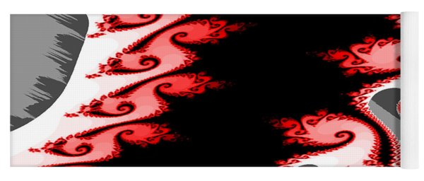 Shades Of Red And Gray Yoga Mat