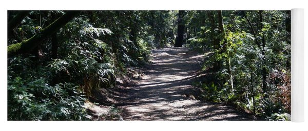 Shady Road On Mt Tamalpais Yoga Mat