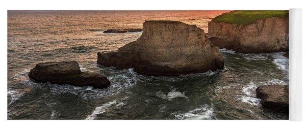 Shark Fin Cove Sunset Yoga Mat
