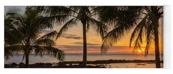 Sharks Cove Sunset 4 - Oahu Hawaii Yoga Mat