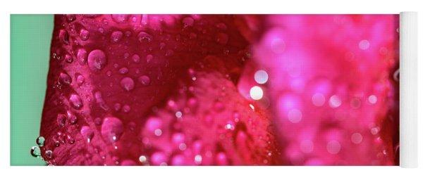 Yoga Mat featuring the photograph Sharp Wet Rose by T Brian Jones