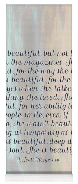 She Was Beautiful By F. Scott Fitzgerald 4 #painting #minimalism #poem Yoga Mat