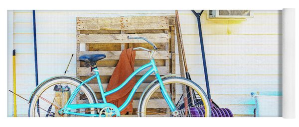 Shed Barn Bicycle Yoga Mat