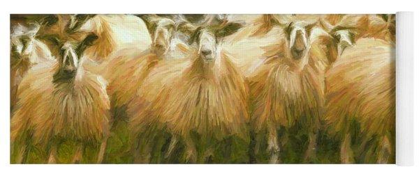 Sheep At Hadrian's Wall Yoga Mat
